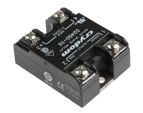 SSR 3-32VDC CONTR SPST-NO 1x50A 280VAC SW RAND.T.ON RELAY-D2450-10