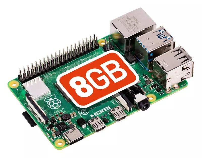 Raspberry Pi 4 B számítógép8GB RASPBERRY PI 4 B 8GB