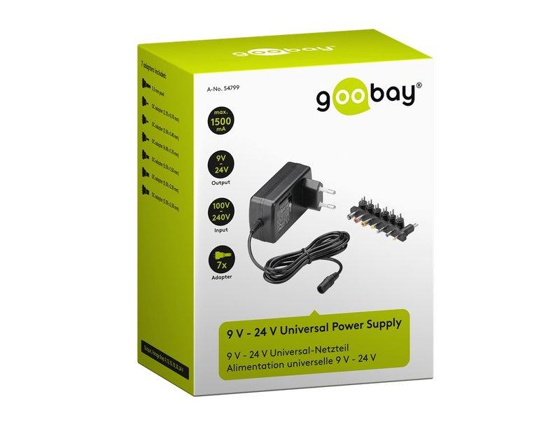 100...240VAC stabilizált tápegység 9...24VDC 1.5A 24W P.SUP.1500/9-24V