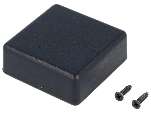 Univerzális műanyag doboz 50x50x20mm, fekete BOX HM1551RBK