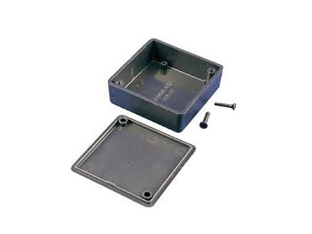 Univerzális műanyag doboz 50x50x20mm, fekete BOX HM1551RBK -