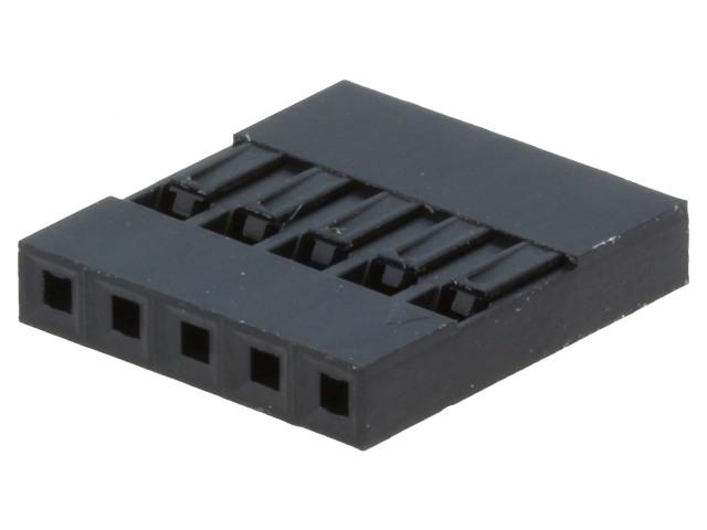 Egysoros csatlakozó ház 5p. táv. 2.54mm CSAT-10MS05/D