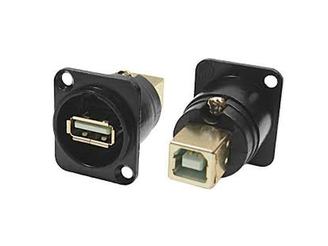 USB-A aljzatt-elől, USB B aljzat-hátul, szerelhető CSAT-USB-A/CP30114