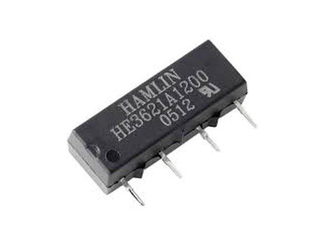 REED 12VDC SPST-NO 1x200VAC/0,5A SIP relé 4p. RELAY-HE3621A1200