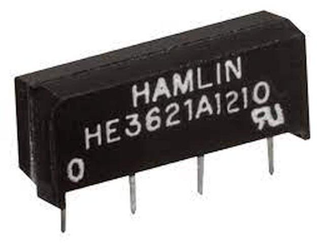 REED 12VDC SPST-NO 1x200VAC/0,5A SIP relé 4p. RELAY-HE3621A1210