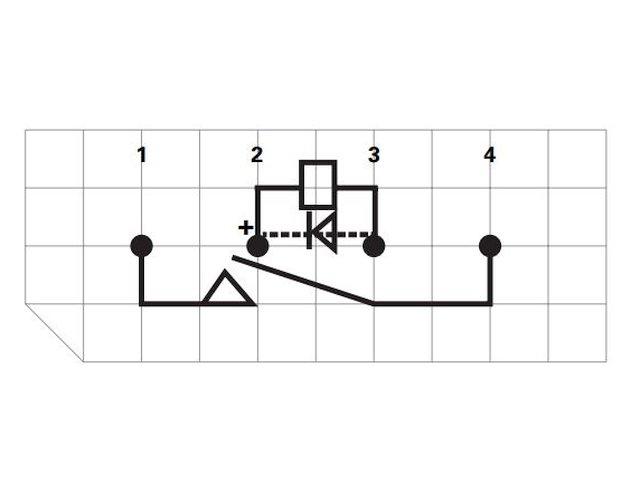 REED 5VDC SPST-NO 1x200VAC/0,5A SIP relé 4p. RELAY-HE3621A0510 -