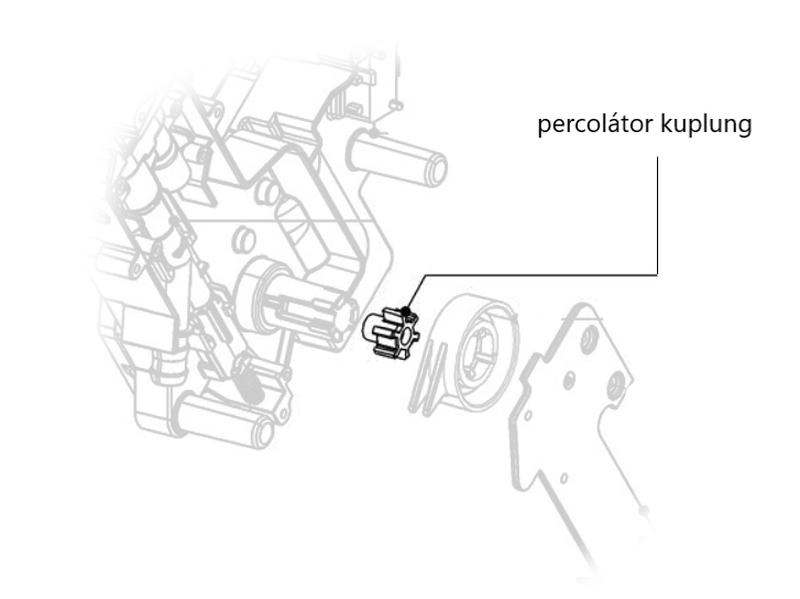 Miele kávéfőző percolator kuplung M10-11405682