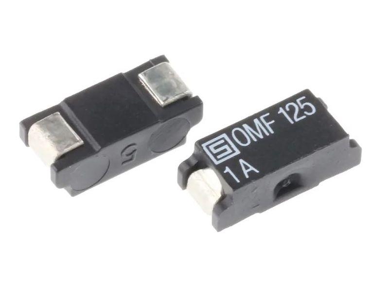 SMD olvadó biztosíték 1A 7,4x3,1x2,6mm gyors, OMF125 SMDF 1.00A-OMF