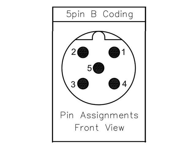 Csatlakozó dugó, 5 pólus, vezetékre, M12, B-Profibus, 3,5...8mm CSAT-M12B05M-B -