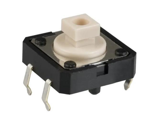 Mikrokapcsoló 12x12mm 4p g.=4mm 1,27N, magasság 7,3mm OMRON B3F-4050 SW10122 127