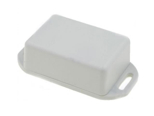 Univerzális műanyag doboz, peremes és füles 50x35x20mm, szürke BOX HM1551GFLGY