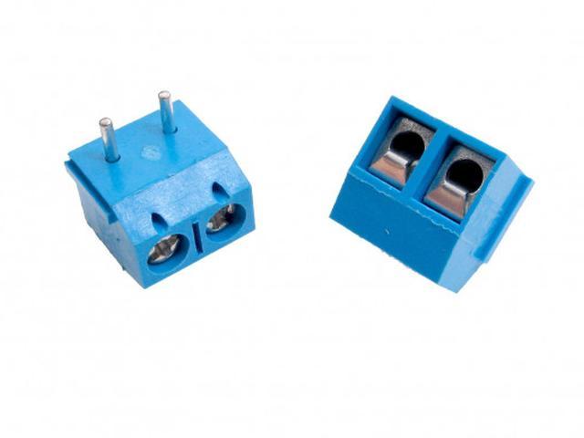 2 Pólusú sorkapocs 5mm 90° nyákos 1,5...4mm2 (kék, sorolható) TB-002/5-90BP
