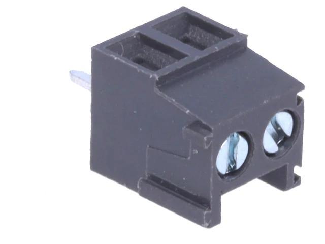 2 Pólusú sorkapocs 3,5mm nyákos, sötét szürke TB-002/3.5