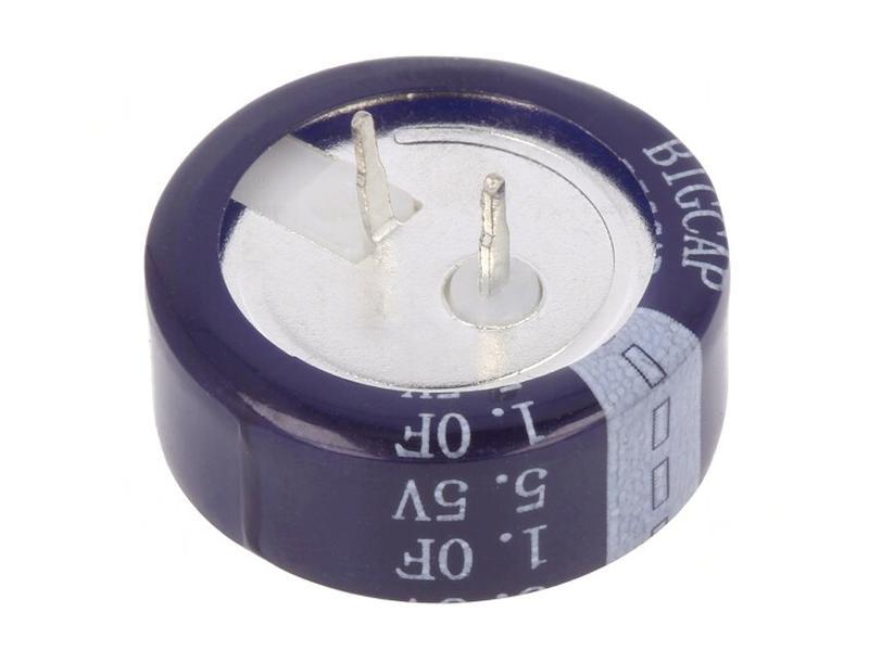 BACK UP kondenzátor 1.0F 5.5V RM-5 (fekvő) BigCap BUC-1.0F-HB