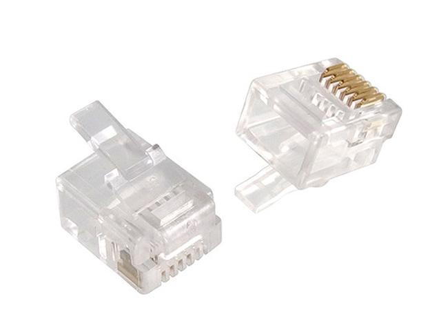 Telefon dugó 6P6C (RJ12) Maxi (lkerek kábelhez) CSAT-T003