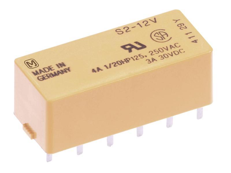 Relé 4x250V 4A 12VDC S2-12Vdc