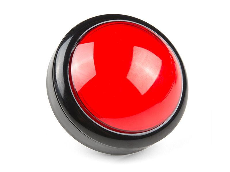 Nagy színes kerek záró visszajelzős nyomógomb Piros SW PUSH BIG/R