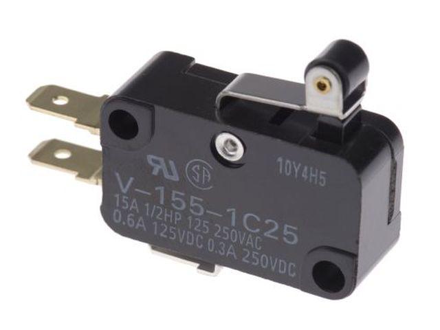 Mikrokapcsoló ON-(ON) 3p. 28x16x10mm 4.8mm saru SW11511LKG-15/4.8