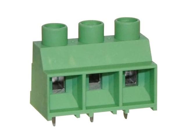 3 Pólusú sorkapocs 9,52mm nyákos 1000V 32A AWG10 (zöld) TB-003/9.52